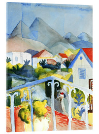 Acrylglasbild  Saint Germain bei Tunis - August Macke