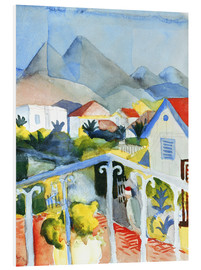 Hartschaumbild  Saint Germain bei Tunis - August Macke