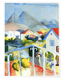 Premium-Poster  Saint Germain bei Tunis - August Macke