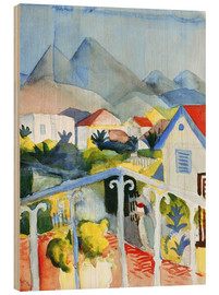 Holzbild  Saint Germain bei Tunis - August Macke