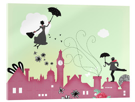 Acrylglas  Mary Poppins London - Elisandra Sevenstar