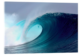 Acrylglasbild  Tropical blauen Welle surfen - Paul Kennedy