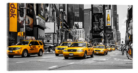 Acrylglasbild  Yellow Cabs auf dem Times Square - Hannes Cmarits
