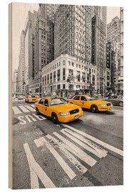 Holzbild  New York Yellow Cab - Marcus Klepper