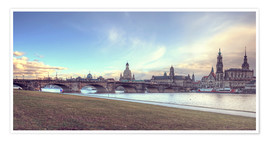 Premium-Poster Dresden, Canaletto-Blick