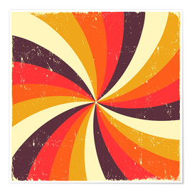 Poster funky spiral