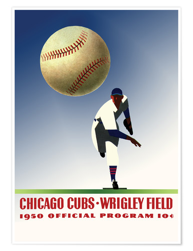 Premium-Poster chicago cubs 1950