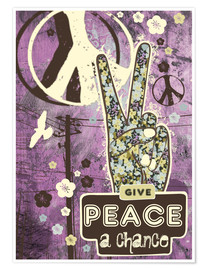 Premium-Poster Give Peace A Chance
