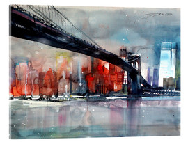 Acrylglasbild  New York, Brooklyn Bridge IV - Johann Pickl