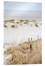 Acrylglasbild  German sea (St. Peter Ording) - gn fotografie