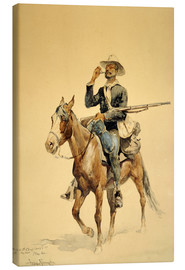 Frederic Remington - A Mounted Infantryman, 1890