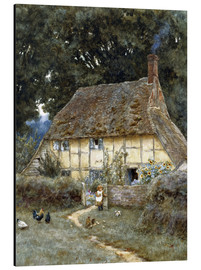 Alubild  An der Brook Road bei Witley - Helen Allingham