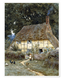 Helen Allingham - An der Brook Road bei Witley
