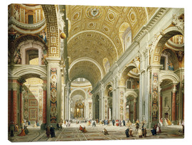 Giovanni Paolo Pannini - Interior of Saint Peter's Rome, looking west towards the Tomb of St. Peter