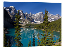 Acrylglasbild  See vor den Canadian Rockies - Paul Thompson