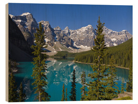 Holzbild  See vor den Canadian Rockies - Paul Thompson