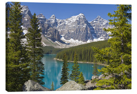 Leinwandbild  Moraine Lake, Canadian Rockies, Alberta, Kanada - Paul Thompson