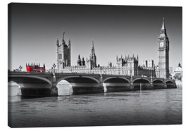 Leinwandbild  Westminster Bridge and Bus - Melanie Viola