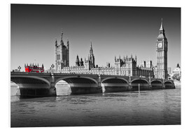 Hartschaumbild  Westminster Bridge and Bus - Melanie Viola