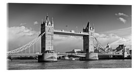 Acrylglasbild  Tower Bridge black and white - Melanie Viola
