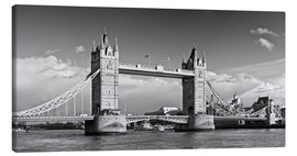 Leinwandbild  Tower Bridge black and white - Melanie Viola