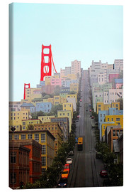 Leinwandbild  San Francisco und Golden Gate Bridge - John Morris