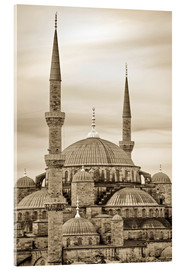 Acrylglas  the blue mosque in sepia (Istanbul - Turkey) - gn fotografie