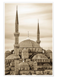 Premium-Poster  the blue mosque in sepia (Istanbul - Turkey) - gn fotografie