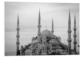 Hartschaumbild  the blue mosque in Istanbul / Turkey - gn fotografie