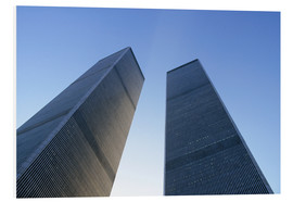 Hartschaumbild  Twin Towers des WTC - Sue Cunningham