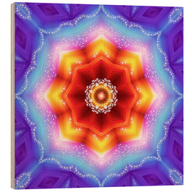 Holzbild  Mandala - Mutter Erde - Dolphins DreamDesign