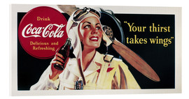 Acrylglasbild  Coca-Cola, your thirst takes wings