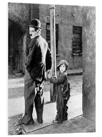 Hartschaumbild  THE KID, Charles Chaplin, Jackie Coogan