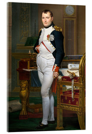 Acrylglasbild  Napoleon in seiner Stube bei Tuileries - Jacques-Louis David