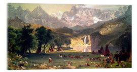 Acrylglas  Indianerlager in den Rocky Mountains - Albert Bierstadt