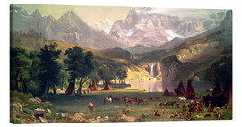 Leinwandbild  Indianerlager in den Rocky Mountains - Albert Bierstadt
