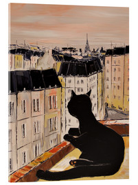 Acrylglasbild  Katerchen in Paris - JIEL
