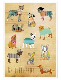Poster Hunde - be different