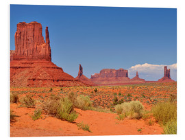 Hartschaumbild  Monument Valley I - Melanie Viola