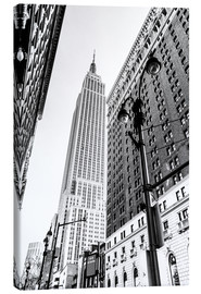 Leinwandbild  New York City - Empire State Building (schwarz weiß) - Sascha Kilmer