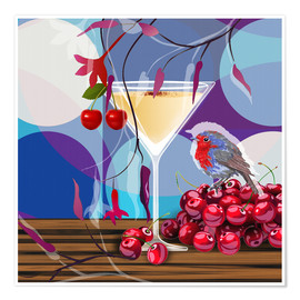 Premium-Poster Vintage Birdy Cocktail IV