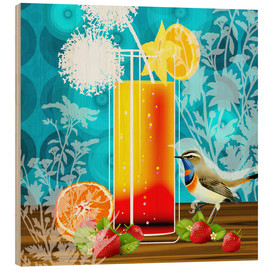 Holzbild  Vintage Birdy Cocktail II - Mandy Reinmuth