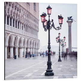 Alubild  Markusplatz in Venedig im Winter - Jan Christopher Becke