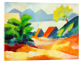 Acrylglasbild  Am Thuner See I - August Macke