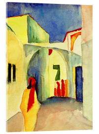 Acrylglasbild  Gasse in Tunis - August Macke