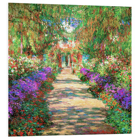 Claude Monet - Weg in Monets Garten