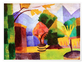 August Macke - Garten am Thuner See