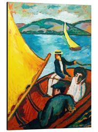 August Macke - Segelboot, Tegernsee