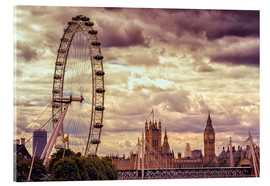 Acrylglasbild  London Eye & Big Ben - Stefan Becker