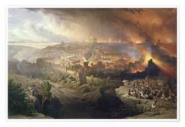 David Roberts - The Destruction of Jerusalem in 70 AD, engraved by Louis Haghe
